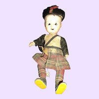 Nice Scottish Project Doll  Free P&I US Buyers