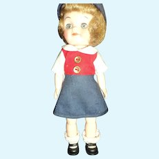 "8"" Effanbee Blue Bird Scouting Doll Free P&I US Buyers"