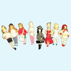 8  1960's Topper Go Go Dolls