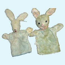 In time for Easter 2 Blue bunny Puppets Free P&I US Buyers