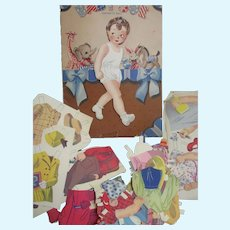 Vintage Large Baby Sue Paper Dolls Free P&I US Buyers