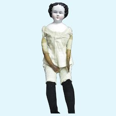 "Lovely 20"" early China doll with leather arms Free P&I US Buyers"