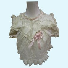 Beautiful Victorian dress for China or bisque doll Free P&I US buyers