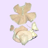"""Adorable Knit Skating outfit for 12"""" Mary Hoyer doll Free P&I US Buyers"""