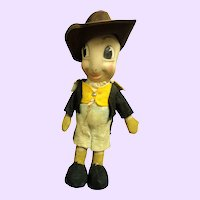"15"" Well Loved Jiminy Cricket doll Free P&I US Buyers"