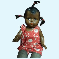 "14"" Effanbee Black Baby Grumpy Durable Doll Free P&I US Buyers"