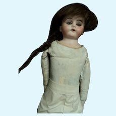 "15"" Lovely Bisque doll leather body  Free P&I US Buyers"