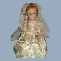 """Lovely 17"""" Effanbee Compo Bride doll Free P&I US buyer"""