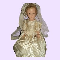 "Lovely 17"" Effanbee Compo Bride doll Free P&I US buyer"