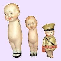 3 Bisque Guys dolls for repair Free p&I US Buyers