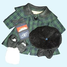 Wonderful Watch Plaid outfit for your Larger Madeline doll Free P&I US Buyers
