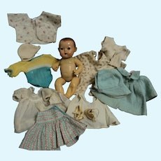"Small 12"" Effanbee Dydee Doll & clothes for restoration Free p&i US Buyers"