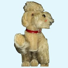 "Adorable Vintage 8"" Snobby Steiff Poodle dog   Free P&I US Buyer"