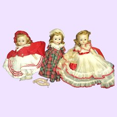 Three HTF Alexander kins doll & outfits Free P&I US Buyers