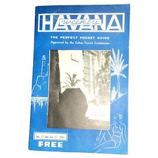 1948 Havana Cuba Weekly Pocket Guide