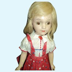 "17"" Arranbee Debu' Teen doll composition Free P&I US Buyers"