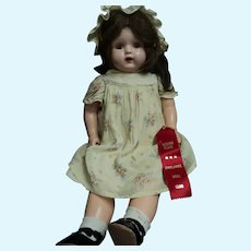 "Ribbon Winner 24"" Compo 1920's Acme Toy Co Compostion Mamma Doll Free P&I US Buyer"