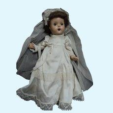 "15"" Compo Bride Doll needs tlc Free P&I US Buyers"