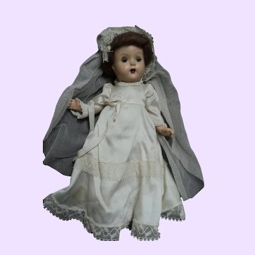 "15"" Compo Bride Doll needs tlc Free P&I US Buyers"