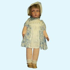 "Exciting 17"" Vintage Doll Cloth/bisque Free P&I US Buyers"