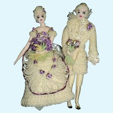 """Must see! Awesome 5"""" artist crochet Miniature doll house dolls Free P&I US Buyers"""