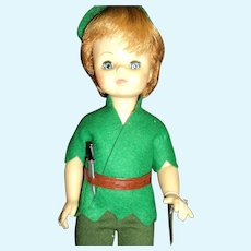 He has Peter Pan Syndrome because he is Madame Alexander Peter Pan Doll Free P&I US Buyers