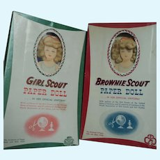 Girl Scout and Brownie Scout Paper Dolls Free P&I US Buyers