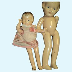 Arranbee & Effanbee compo dolls for restoration Free P&I US Buyers