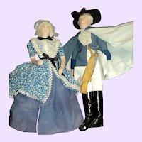 Wonderful Artist Doll George & Martha Washington Kimport/Kimcraft Free P&I US Buyers