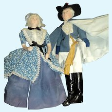 Wonderful Artist Doll George & Martha Washington Kimport/Kimcraft Free P&I US Buyers