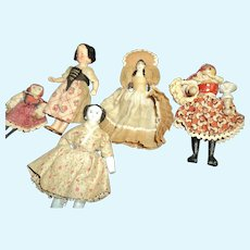 5 Miniature Kimport Kimcraft dolls w/stands Free p&i US buyrs