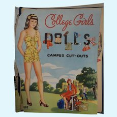 Vintage College Girls Paper Dolls uc Free p&I US Buyers