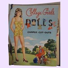 Vintage College Girls Paper Dolls uc Free p&I US Buyers