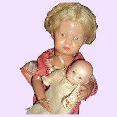 1919`Adorable Schoenhut Walkable Doll Free P&I US Buyers
