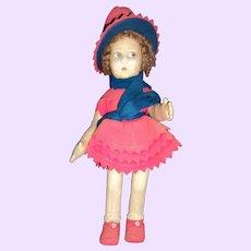 "15"" Lenci Felt doll Free p&I US Buyers"