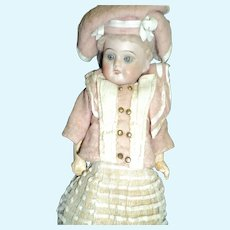 "11"" German Bisque doll with French look (fashion) Free P&I US Buyers"