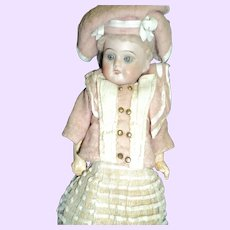 """11"""" German Bisque doll with French look (fashion) Free P&I US Buyers"""