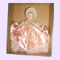 Beautiful Ruth Gibbs china Doll w/ox Free P&I US Buyers