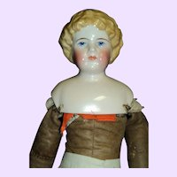 "17""Lovely Blonde China Doll free P&I US Buyers"