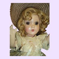 "Beautiful 18"" Southern Belle composition doll  Free P&I US Buyers"