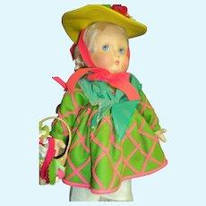 "Beautiful Anili  Large 17"" Lenci doll Free P&I US Buyers"