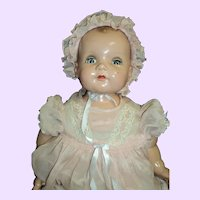 "Wonderful Ideal large 22"" composition BABY doll Free p&I US Buyers"