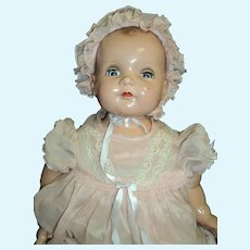 """Wonderful Ideal large 22"""" composition BABY doll Free p&I US Buyers"""
