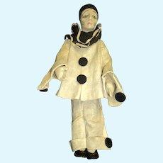 "Rare 15"" Lenci  Pierrot  Doll Free P&I US Buyers"