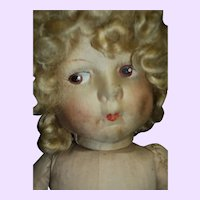 """Cute 18"""" Cloth Doll for restoration Free P&I US Buyers"""