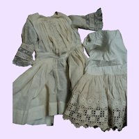 Lovely dress and slip for Larger  Bisque or China doll  Free P&I US Buyers