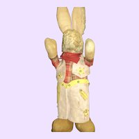 """16"""" Adorable Cowboy Bunny for Restoration Free P&I US Buyers"""
