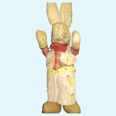 "16"" Adorable Cowboy Bunny for Restoration Free P&I US Buyers"
