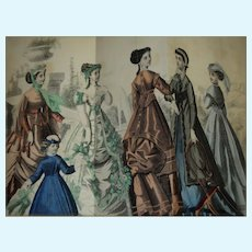 1868  Jan / June Godey's Lady's Book  Beautiful Free P&I US Buyers