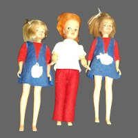 Ideal Tammy's sister Pepper & two Dodi dolls Free P&I US Buyers